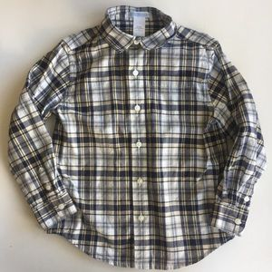 Janie and Jack Plaid Button Up Shirt